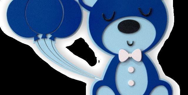 Quadro Urso Menino - 30x30cm