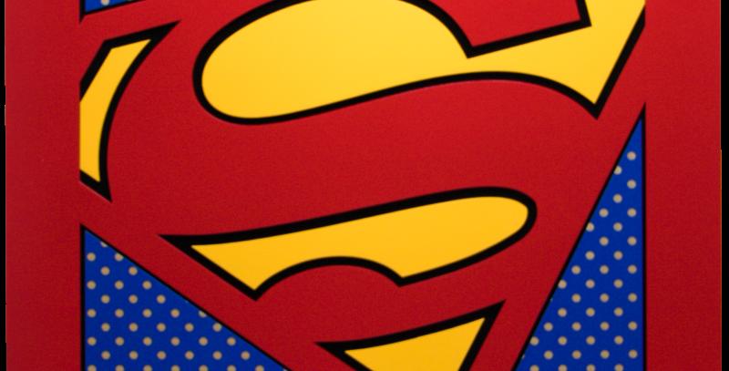 Quadro Superman quadrado 40x40cm