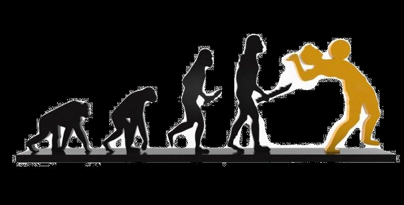 Objeto Evolução Futebol - 17x42cm