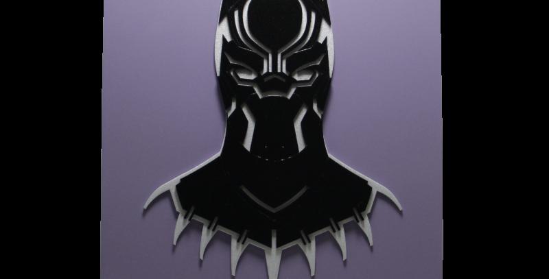 Quadro decorativo- Pantera Negra- Black Panther