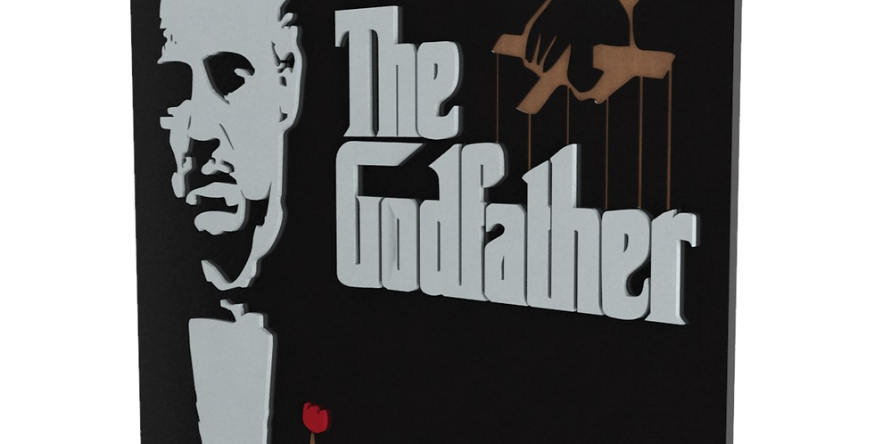 Quadro Decorativo The Godfather - 35x40cm
