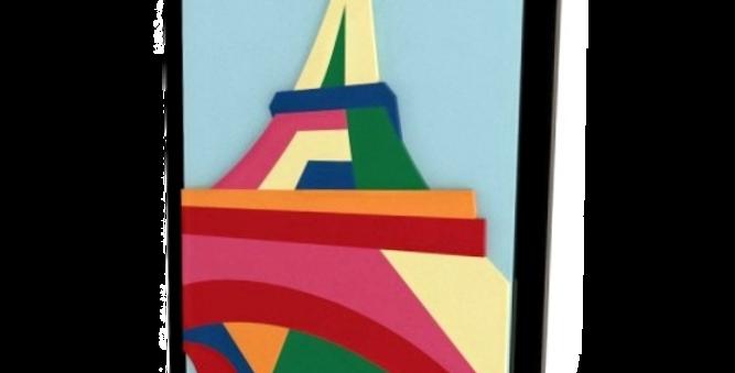 Quadro Torre Quadriculado - 48x37cm