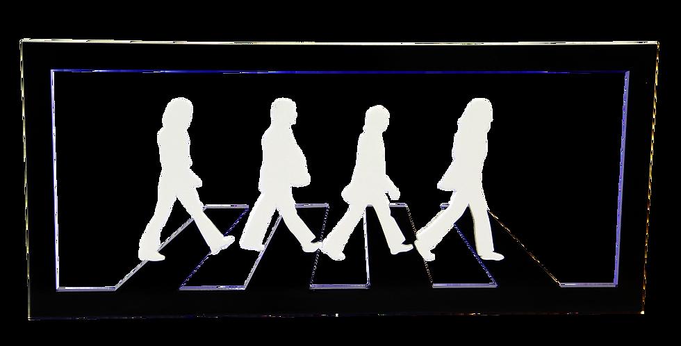 Quadro Abbey Road Aplique Preto - 12x30cm