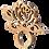 Thumbnail: Passa Guardanapo Flor - 7x9,3cm