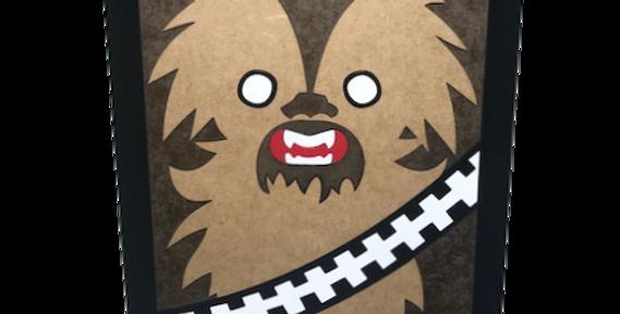 Quadro Chewbacca - 40x27cm