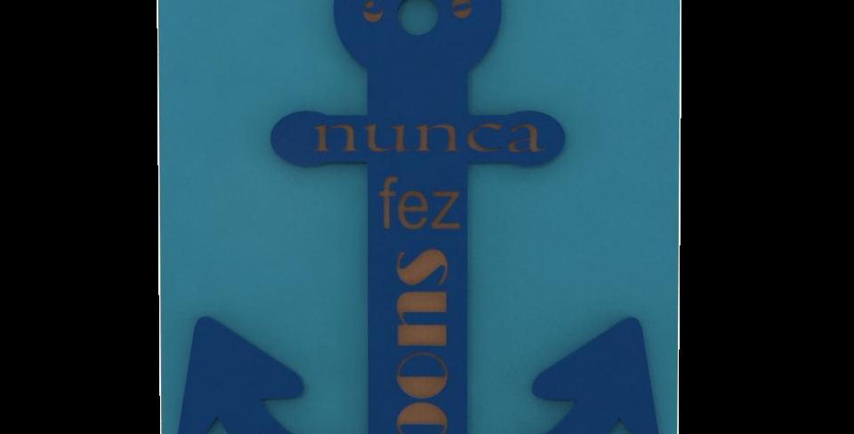 Quadro Lajotinha Âncora - 35x26,5cm