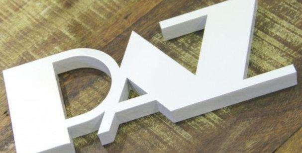 Palavra Decorativa Paz -10x25cm
