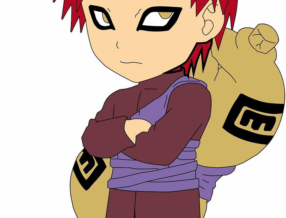 Boneco Decorativo - Naruto- Gaara