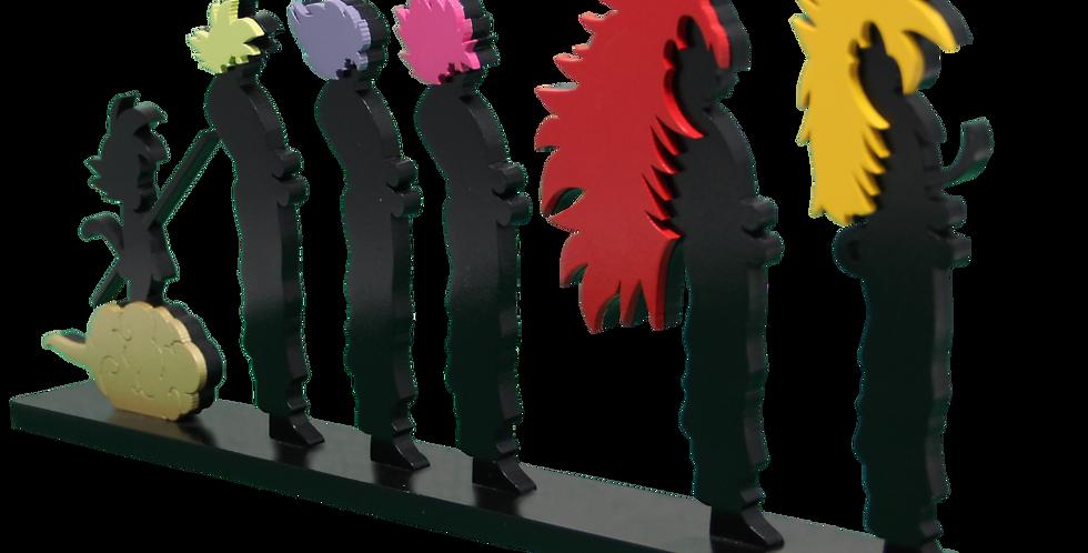 Adorno Evolução Dragon Ball Super Sayajin 15,5x40 cm