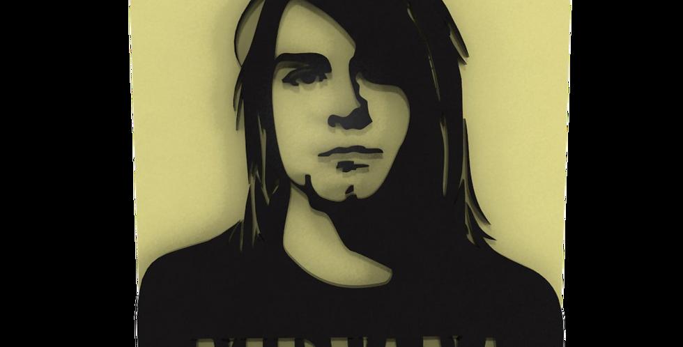 Quadro Musica Kurt Kobain - 35x25cm