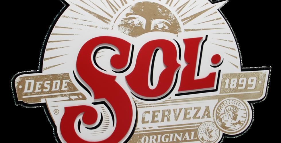 Quadro Cerveza Sol 3/6mm