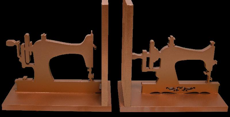 Aparador de livro Maquina de costura 15x16cm