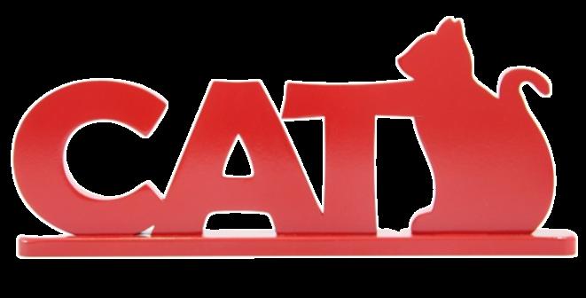 Palavra Decorativa Cat - 14x35cm