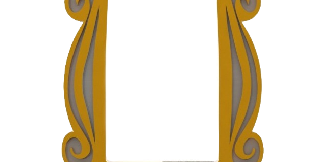 Moldura Olho Mágico de Porta Friends - F.R.I.E.N.D.S - 24x19cm