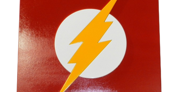 Quadro Decorativo Super Herói Flash - 40x40cm
