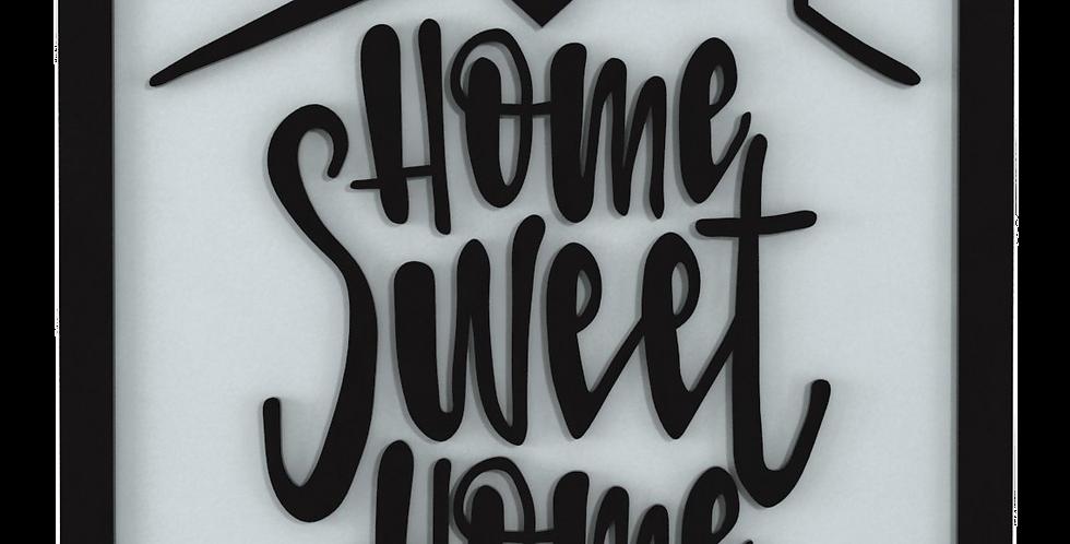 Quadro Home Sweet Home 35x35cm