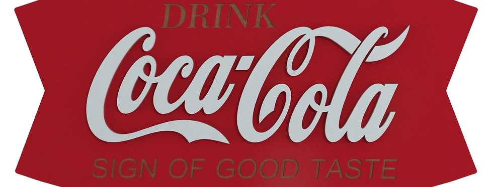 Quadro Coca-Cola Sign - 21x40cm