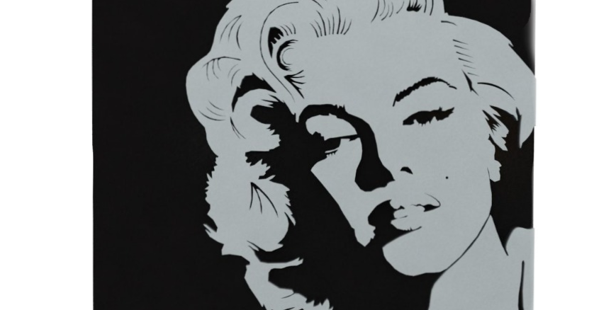 Quadro Lajotinha Marilyn Monroe - 20x16cm