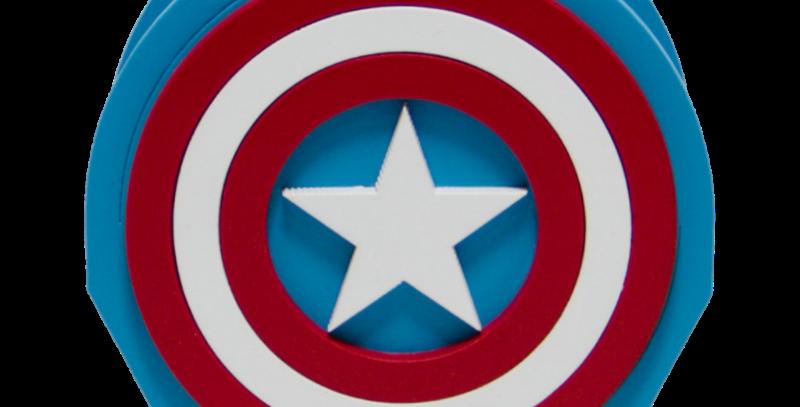 Porta Caneta Geek - Capitão América 10x10cm