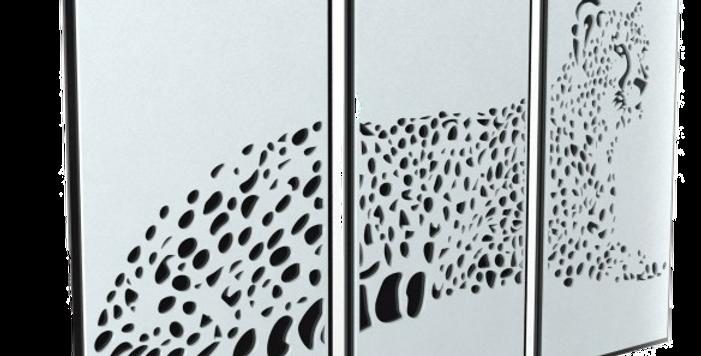 Quadro Triplo Leopardo - 70x110cm