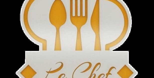 Quadro Le Chef - 30x25cm