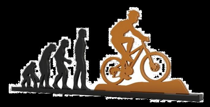 Objeto Evolução Bike - 15x26cm