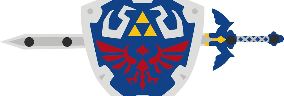 Porta Chave Laqueado - Geek - Jogo Zelda
