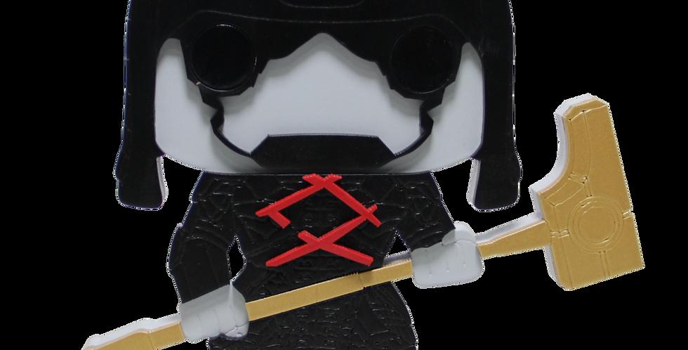 Boneco Laqueado- Geek - Guardiões da Galaxia - Ronan - 19x15