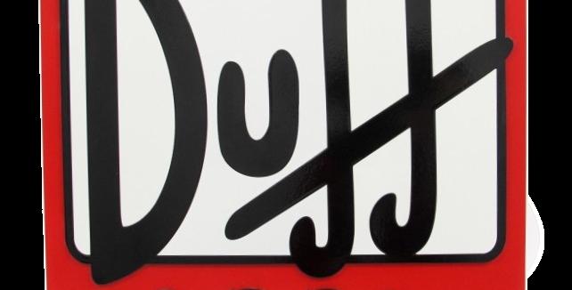 Quadro de Bebida Duff Beer - 40x40cm
