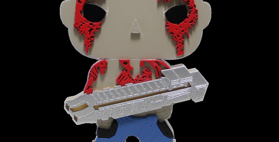 Boneco Laqueado - Geek - Guardiões da Galaxia - Drax - 19x15