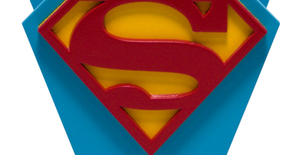 Porta Caneta Geek - Super Homem 10x10cm