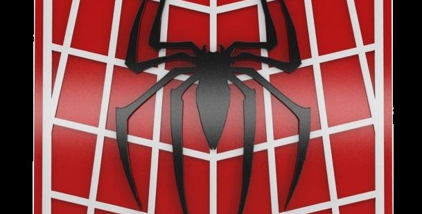 Quadro Decorativo Super Herói Homem Aranha - 40x40cm