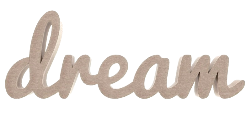 Palavra Decorativa Dream Cursiva - 12x30cm