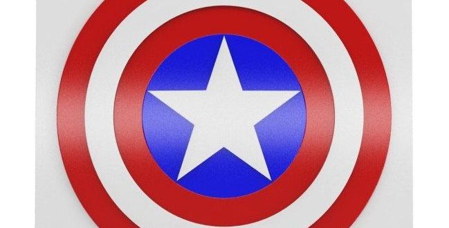 Quadro Decorativo Capitão América - 40x40cm