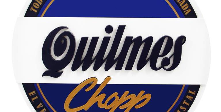 Quadro de Bebida Quilmes - 39x39cm