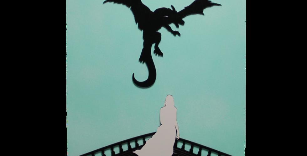 Quadro Dragão Game Of Thrones 40x26cm