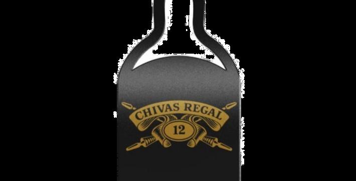 Aplique de Parede Garrafa Chivas Regal - 25x9cm