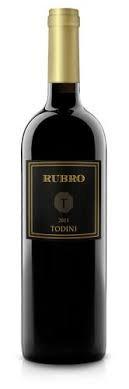 Cantina Todini 'Rubro' Sangiovese di Todi 2015, Umbria, Italy