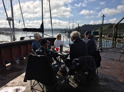 Raft up in Cathlamet