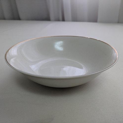 Soup Bowl - Gold Rim