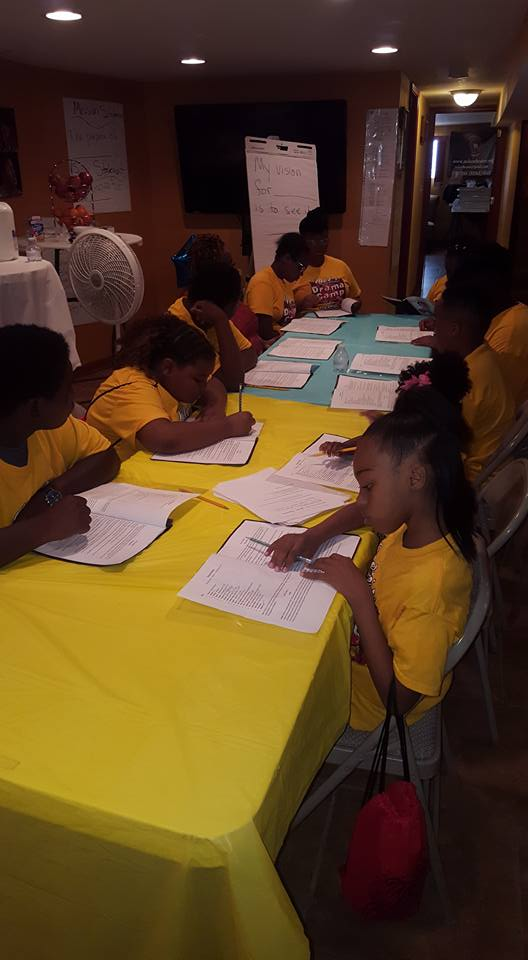 children reading play script
