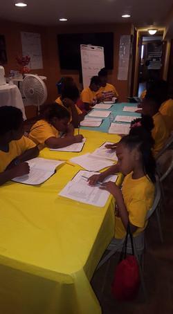 children reading play script