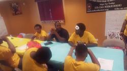 cj teaching a class