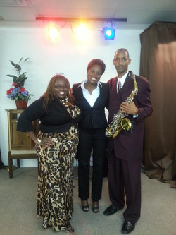 Sax Preacher and Audrey Kenner