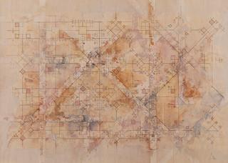 DUNE MATRIX_2016, Mixed Media on wood. Unique. 80 x 60 cm, signed & framed