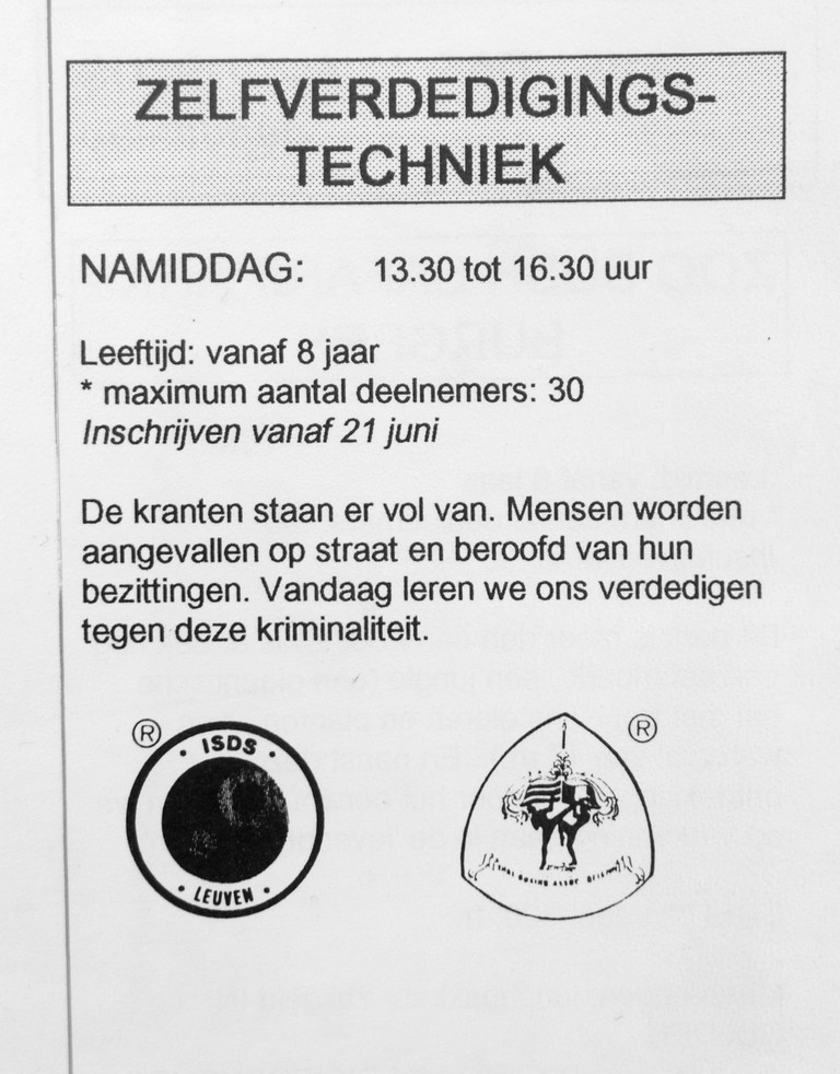 16. Zelfverdediging jeugd 1993