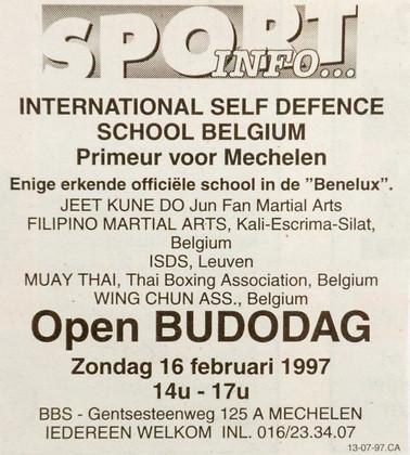 17. Open Budo dag 1997