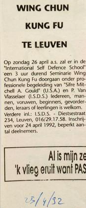 14. Wing Chun Seminar 1992