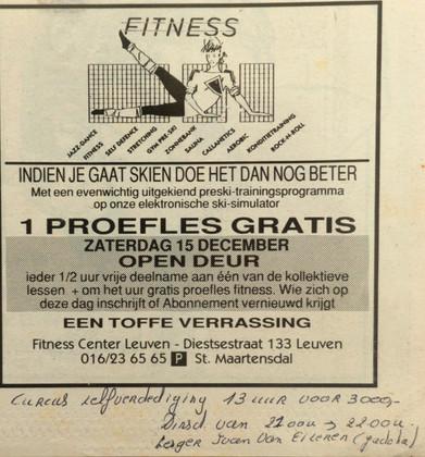 4.Cursus Zelfverdediging -1990