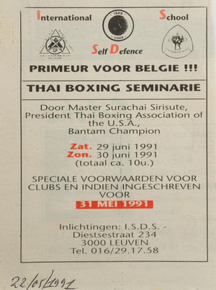 10. THAI BOX Seminar 1991